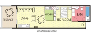 Sample layout of a Deluxe room