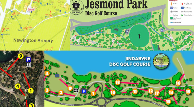 Disc Golf Course Equipment ~ Where to play nsw disc golf